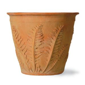 Fern (Leaf) Fibreglass Terracotta Finish Pot From potstore.co.uk